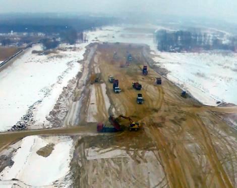 В строительство дороги