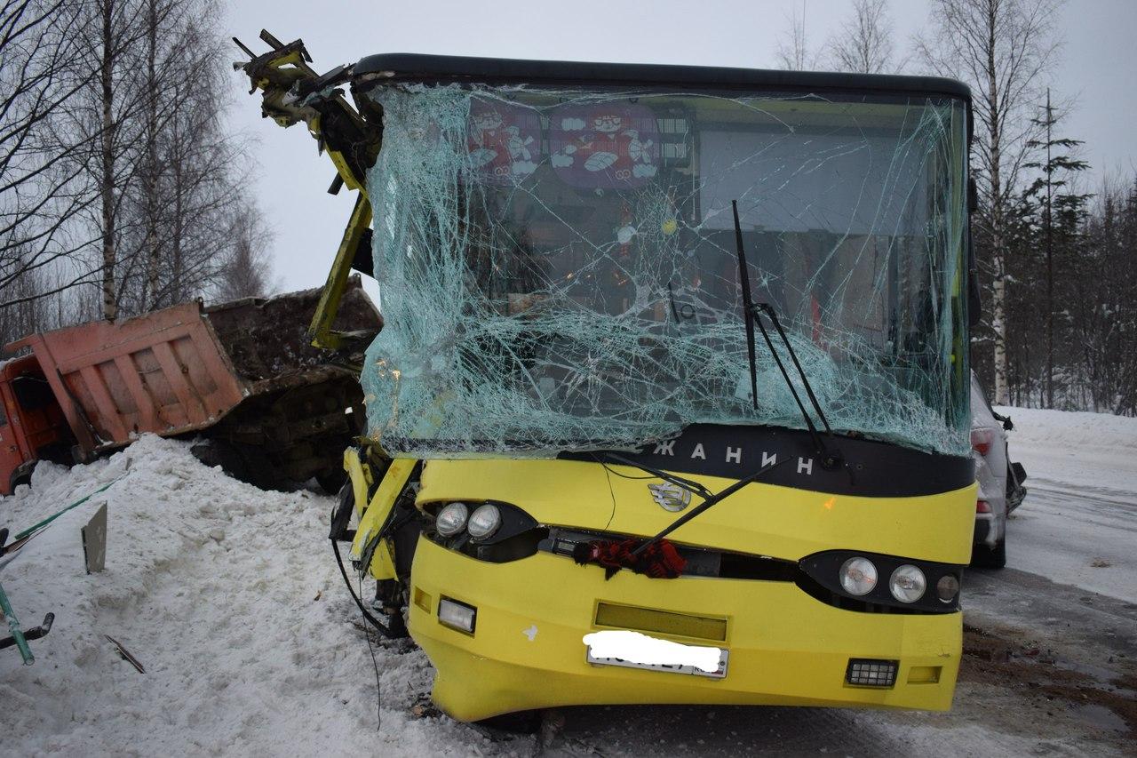 ДТП с автобусом в Костомукше