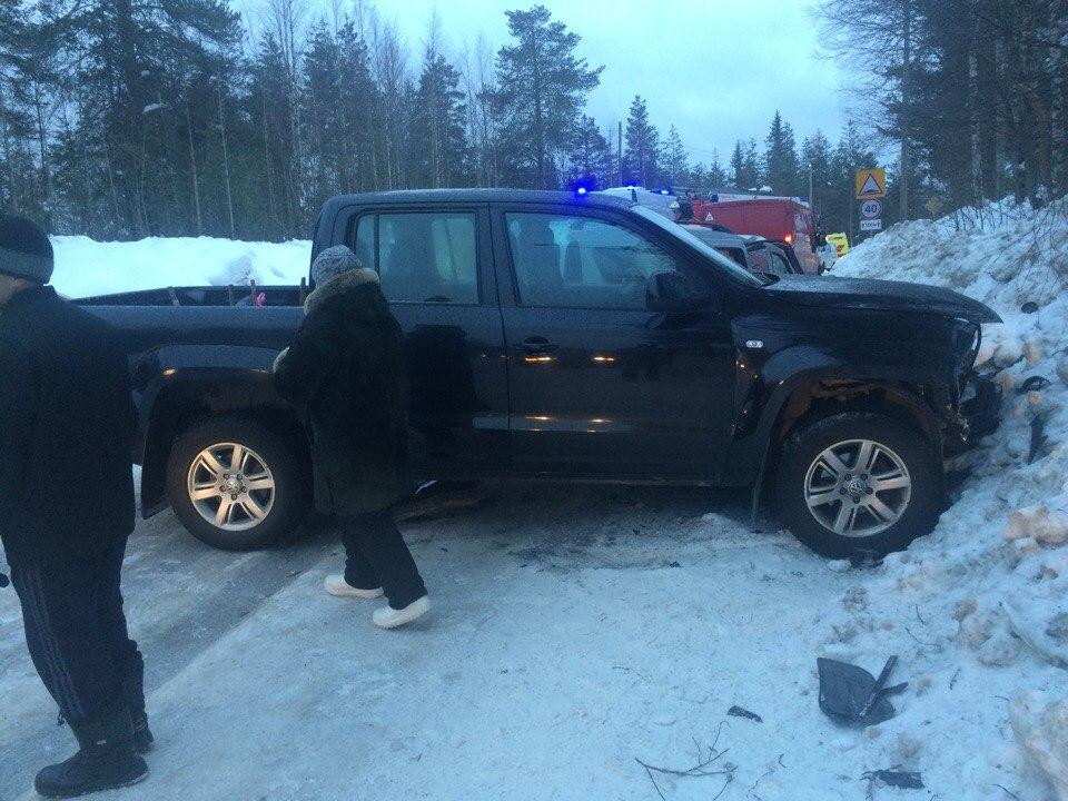 Три человека пострадали в ДТП на севере Карелии