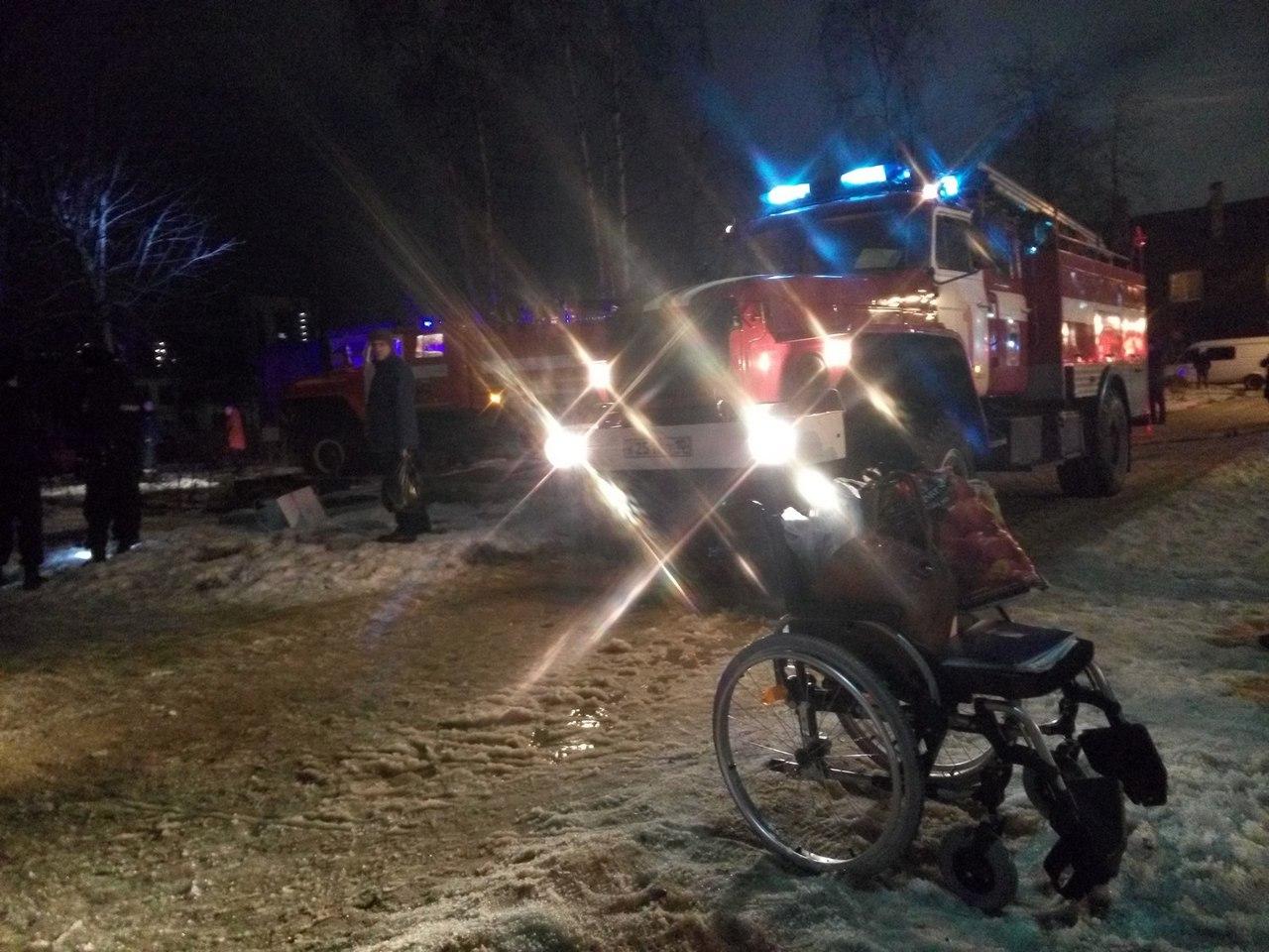 Пожар на Октябрьском проспекте в доме №46