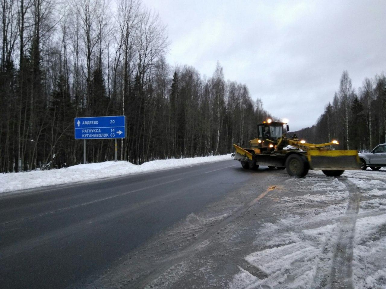 Дорога на Куганаволок в Пудожском районе