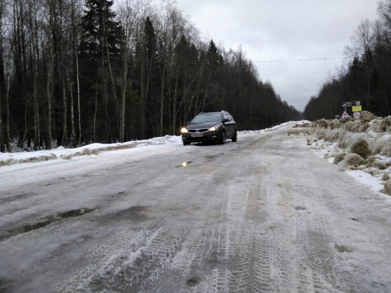 Дорога в Пудожском районе. Фото: Александр Батов