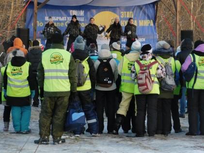 Через несколько минут начнется награждение победителей гонки «По земле Сампо»