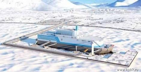 Более половины мол-причала для плавучей атомной теплоэлектростанции готово в Певеке