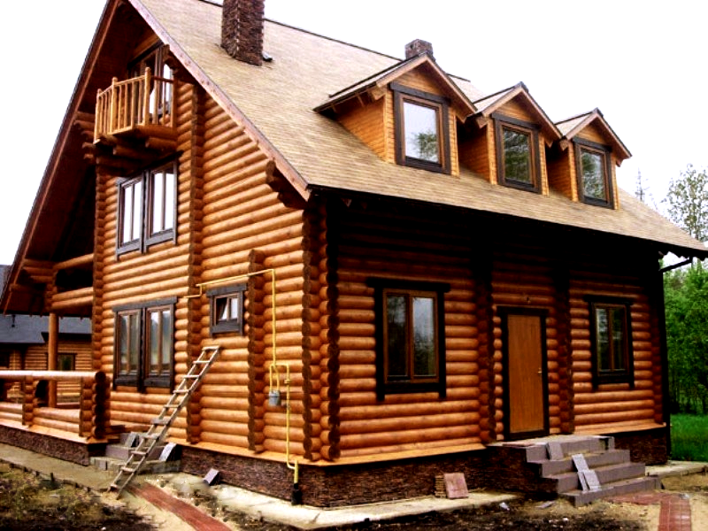 Строительство дома из лиственницы под ключ