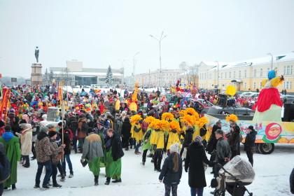 Прощеное воскресенье в Петрозаводске началось с «Гиперборейской Масленицы»