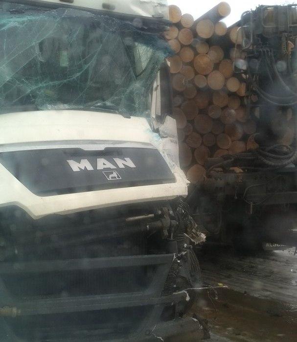 ГИБДД прокомментировала сегодняшнюю аварию с лесовозом и фурой