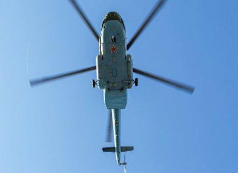 Ми-8 совершил жесткую посадку на одну из улиц Хабаровска