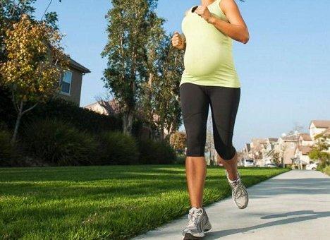 Бег во время беременности не опасен для женщин