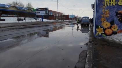 Из-за большой лужи в Сортавале объявили режим ЧС