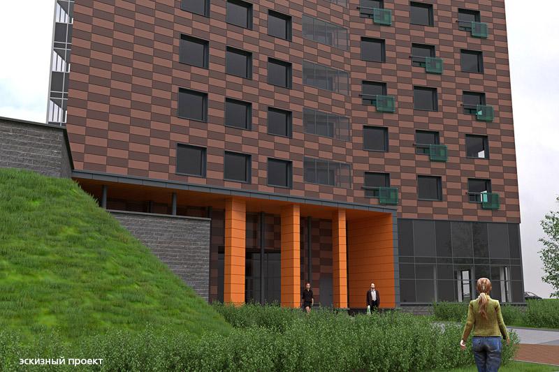 Новый дом на Кукковке станет ярким архитектурным акцентом микрорайона