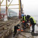 На Колыме идет реконструкция пятого причала магаданского морского торгового порта