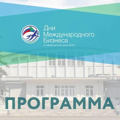 В Хабаровске представлена расширенная программа Дней Международного бизнеса