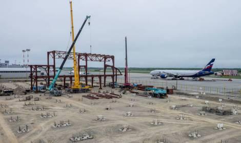 В аэропорту Южно-Сахалинска начали возводить новый аэровокзальный комплекс