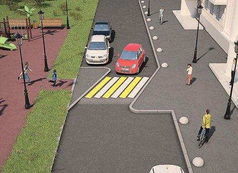 Пешеходные переходы приподнимут над землей