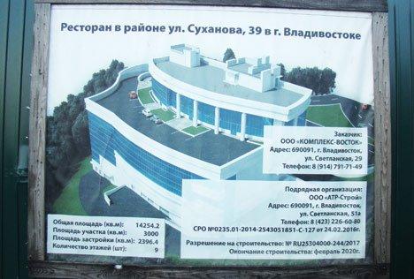 Во Владивостоке ресторан уперся в будущий музей