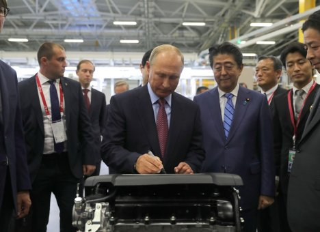 Путин благословил приморский завод по производству двигателей