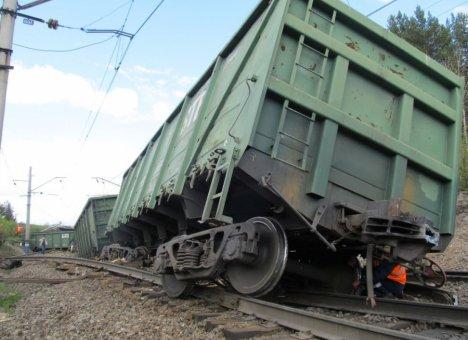 В Приморье вагоны не удержались на рельсах