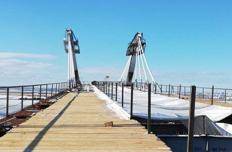 Строительство международного моста через Амур по обеим сторонам границы идет по графику
