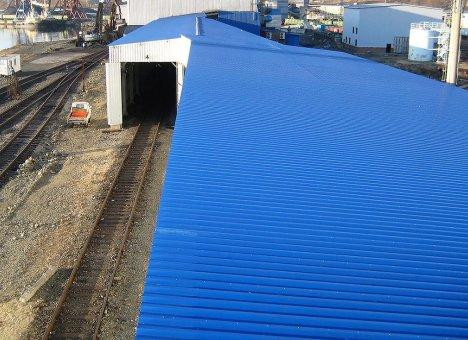 Порт Посьет построил крытую транспортную галерею для повышения эффективности разгрузки угля зимой