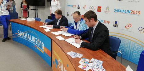 На Сахалине прошла церемония гашения открытки Игр