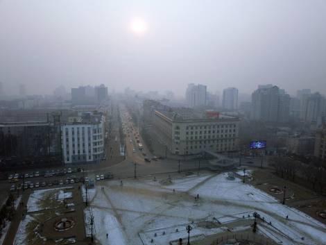 Хабаровск заволокло дымом от палов в Китае