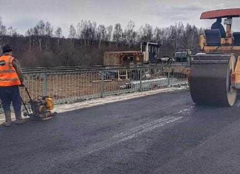 Новый мост через реку Крыловка почти готов