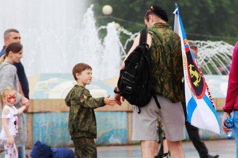 День ВМФ отметили морским парадом
