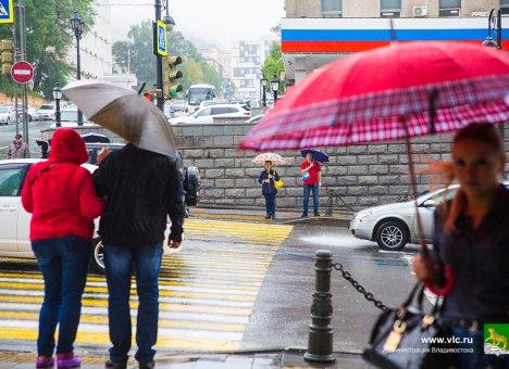 Сильный дождь ожидается во Владивостоке