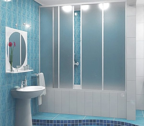 Шторки для ванной – большой ассортимент конструкций