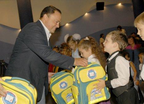 Младший сын Игоря Пушкарева пошел в 1-й класс
