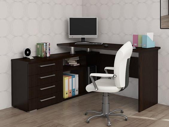 Качественный и стильный угловой стол б/у