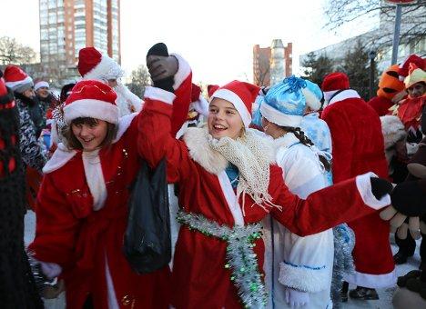 Деды Морозы выйдут на улицы Владивостока