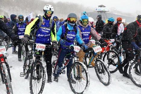 Определены победители ледового велоралли