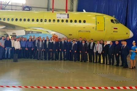 В Комсомольске отметили 15-летие завода по выпуску авиалайнера SSJ100