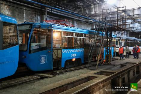 Московский трамвай успешно прокатился по Владивостоку