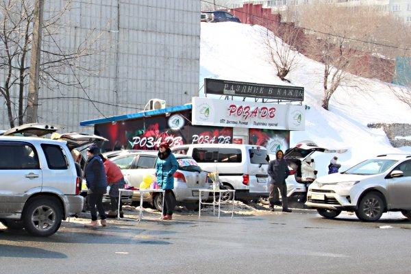 Нелегальные продавцы цветов перекрывают торговлю магазинам