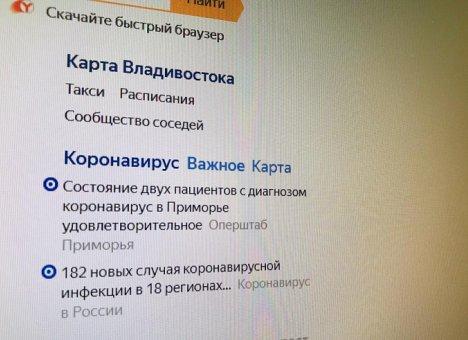 Правительство Приморья и Яндекс запустили сервис информирования