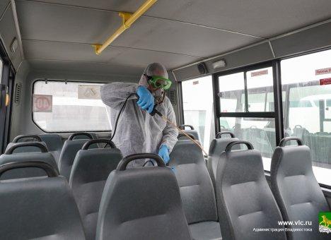 Общественный транспорт Владивостока обязан выходить на линию только с отметкой о дезинфекции