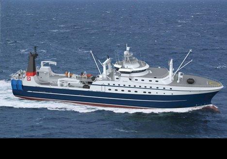Спуск на воду первого серийного супертраулера для Русской Рыбопромышленной Компании состоится 23 июня