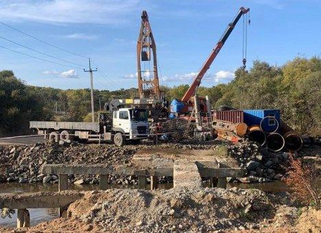 Строительство сразу нескольких мостов ведется в Приморском крае