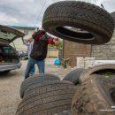 Владивосток очистили от 3000 старых автопокрышек