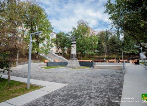 Во Владивостоке откроют благоустроенный Жариковский сквер