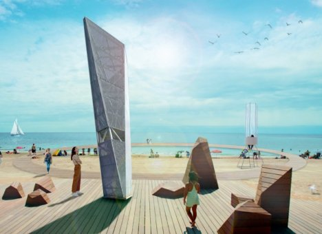 Пляж и бетонная набережная будут обустроены в бухте Аякс на Русском острове