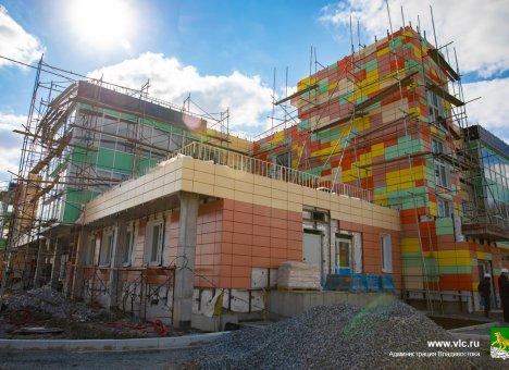 Строительство детсада в микрорайоне Патрокл во Владивостоке планируется завершить до конца года